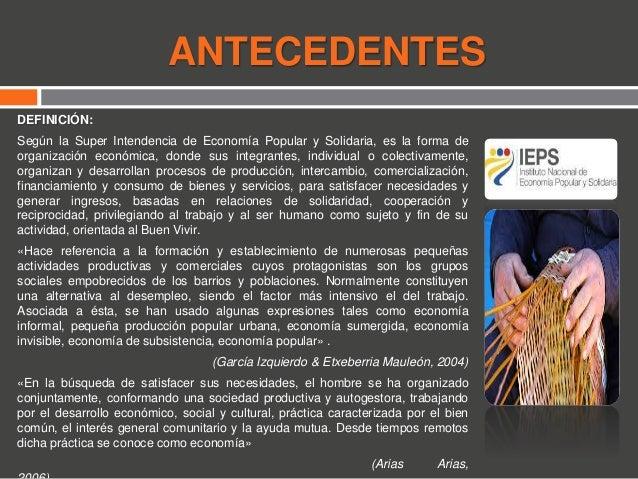 ECONOMÍA POPULAR Y SOLIDARIA EN EL ECUADOR