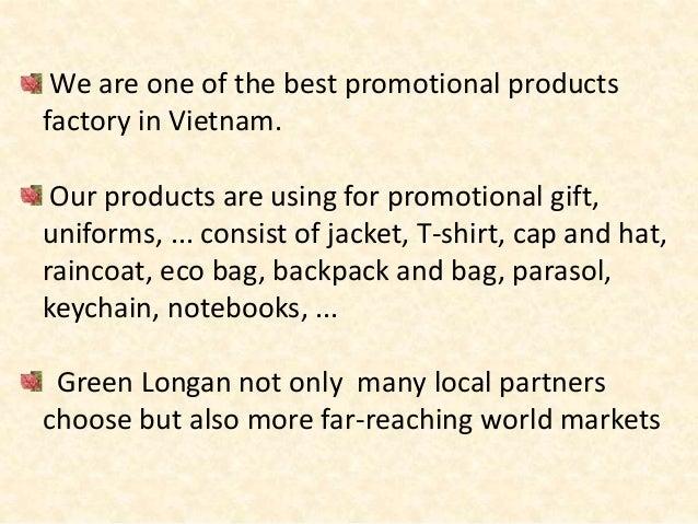 PROMOTIONAL PRODUCT COMPANY-GREEN LONGAN CO.,LTD Slide 2