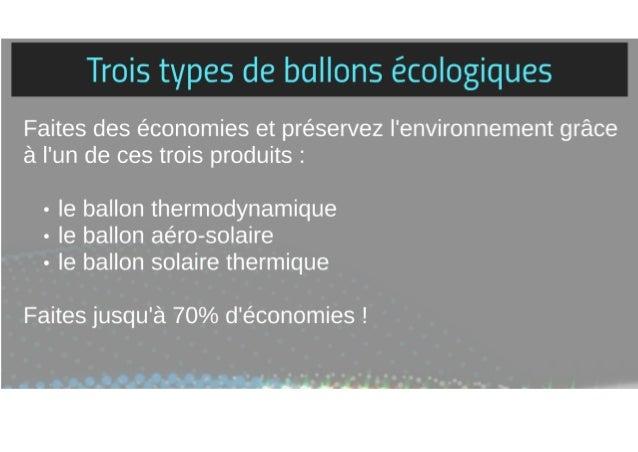 les ballons ecologiques idf solaire