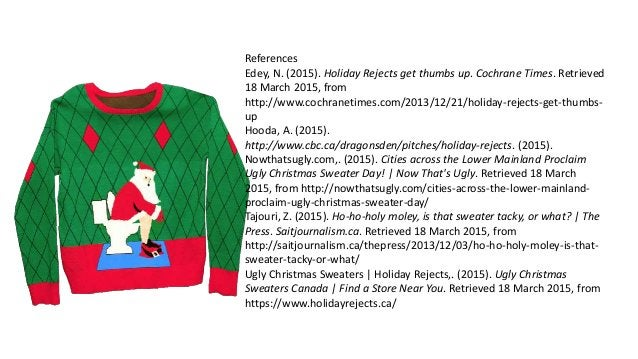 Business Analysis of the Holiday Rejects