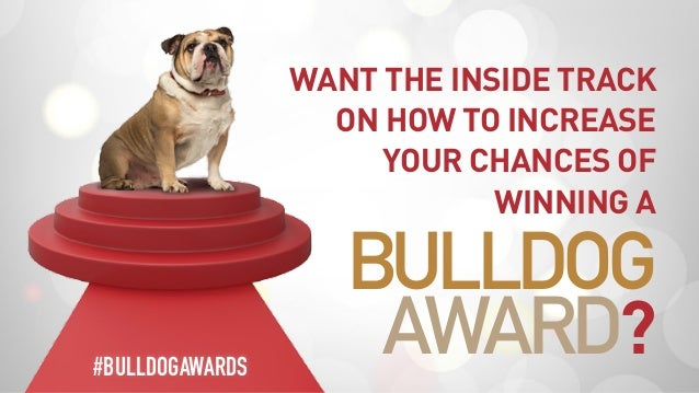 WANT THE INSIDE TRACK ON HOW TO INCREASE YOUR CHANCES OF WINNING A BULLDOG AWARD?#BULLDOGAWARDS