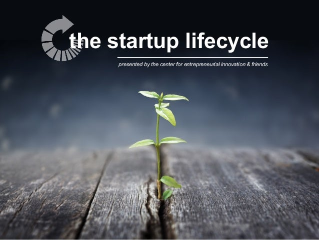the startup lifecycle presented by the center for entrepreneurial innovation & friends