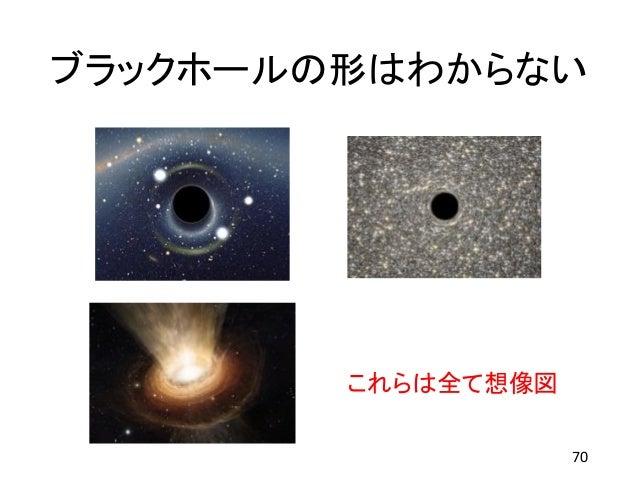 ブラックホールの形はわからない 70 これらは全て想像図