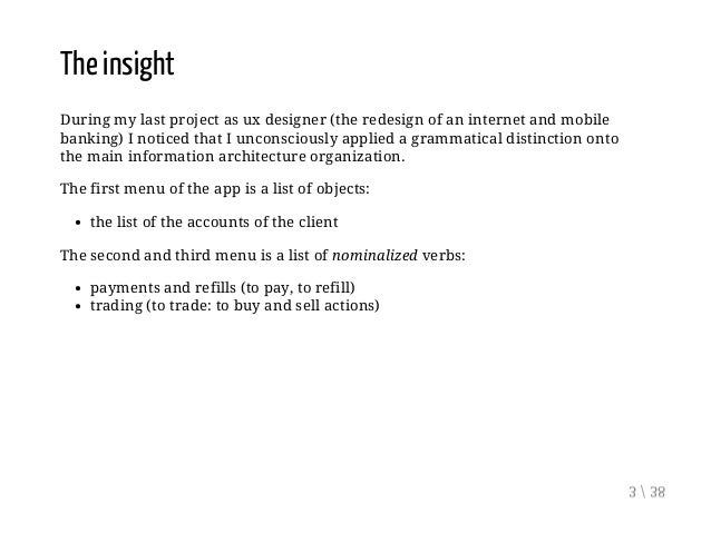 The Grammar of User Experience Slide 3