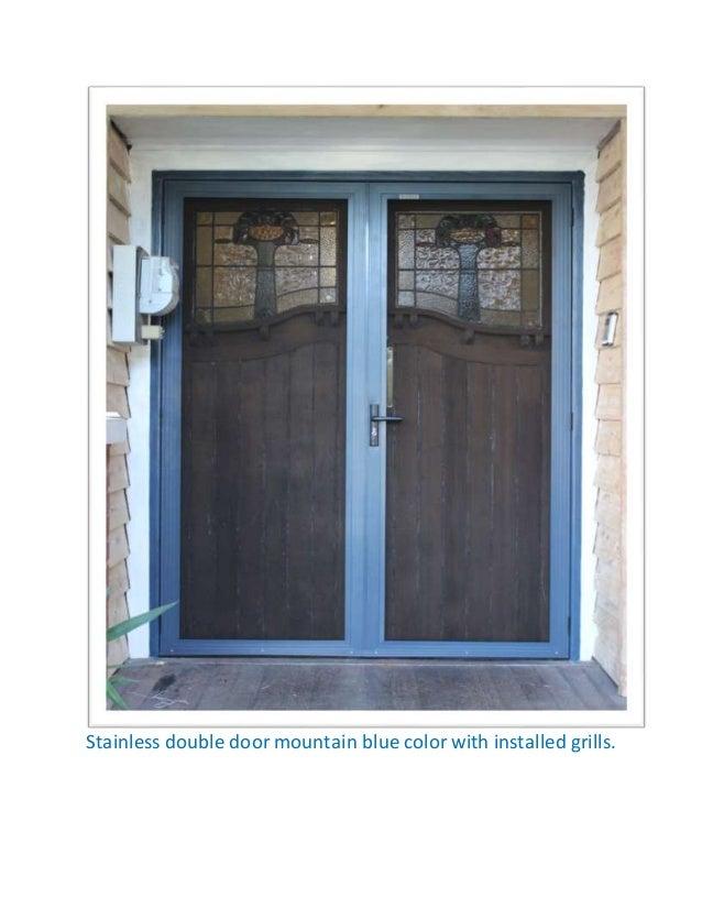 Top Five Stainless Steel Security Doors Designs
