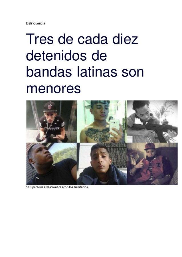 Delincuencia Tres de cada diez detenidos de bandas latinas son menores SeispersonasrelacionadasconlosTrinitarios.