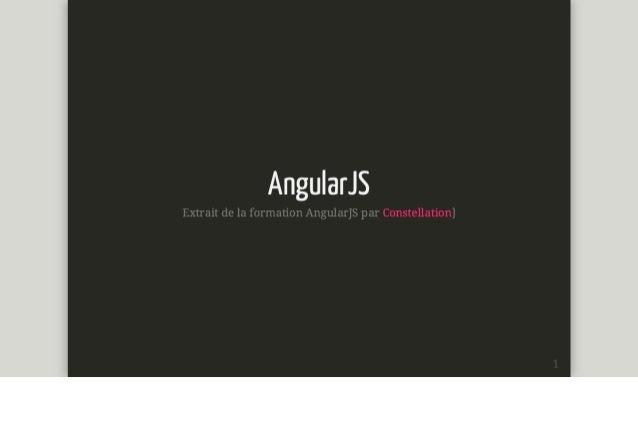 Formation angular js - Constellation