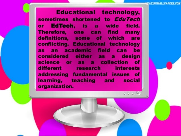 Research paper on computer educational technology