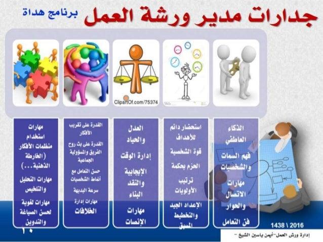 إدارة ورش العمل