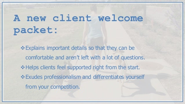 new customer welcome packet