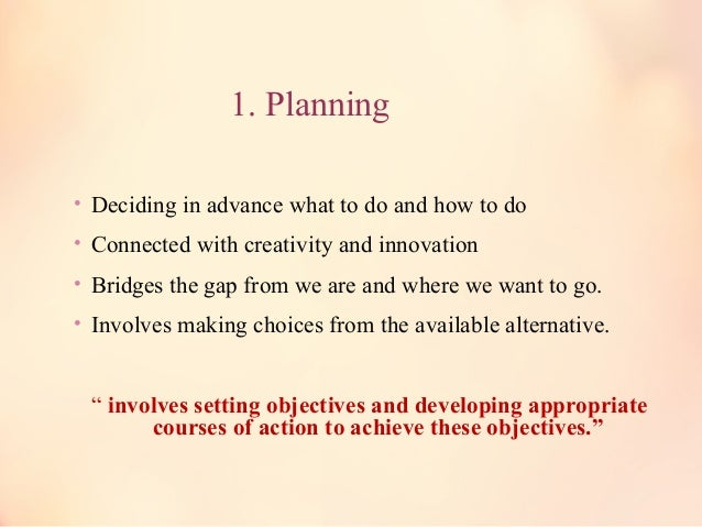 """Definition • """"""""Planning Is An Intellectual Process, The Conscious Determination OfPlanning Is An Intellectual Process, The..."""