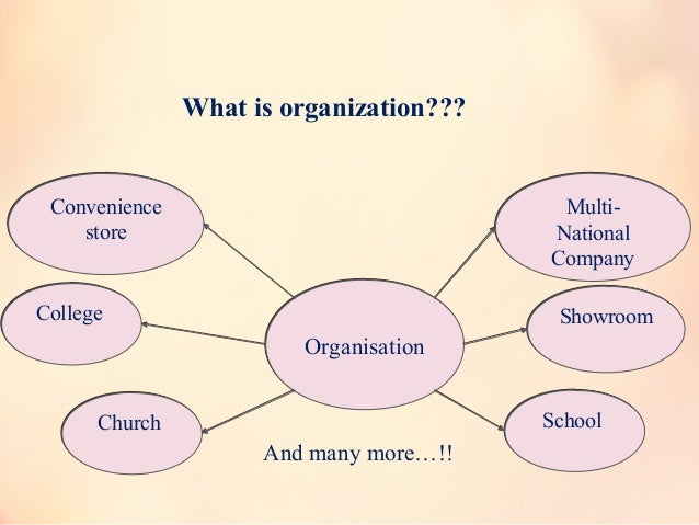 What is organization??? Convenience store Convenience store ShowroomShowroomCollegeCollege OrganisationOrganisation Church...