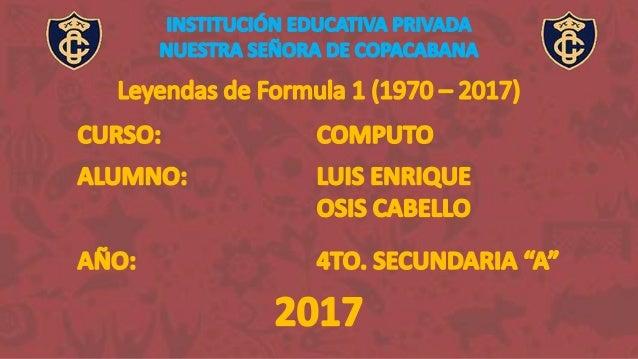 AÑO EQUIPO PUESTO 1965 Owen Racing Organisation 3° 1966 7° 1967 9° 1968 Matra International 2° 1969 1° 1970 Tyrrell Racing...