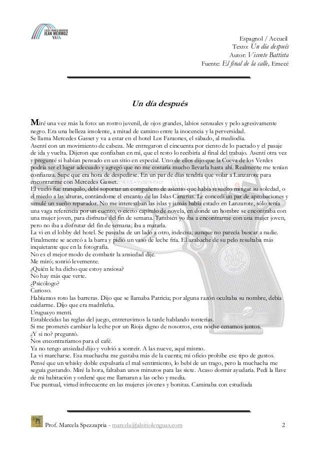 """""""Un día después"""", Vicente Battista Slide 2"""