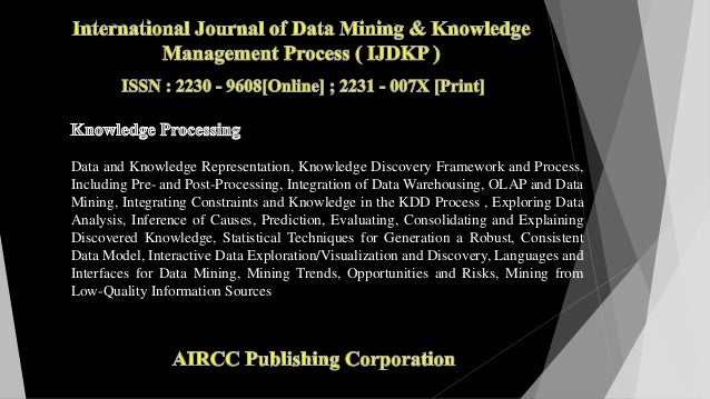 Data and Knowledge Representation, Knowledge Discovery Framework and Process, Including Pre- and Post-Processing, Integrat...