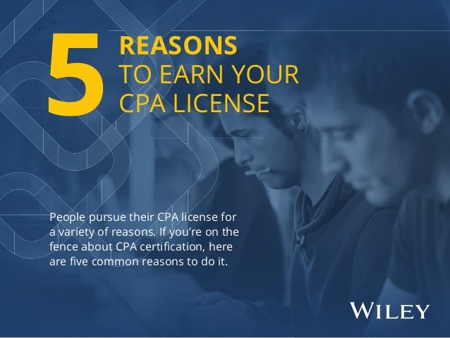 People pursue their CPA license for a variety of reasons. If you're on the fence about CPA certification, here are five comm...