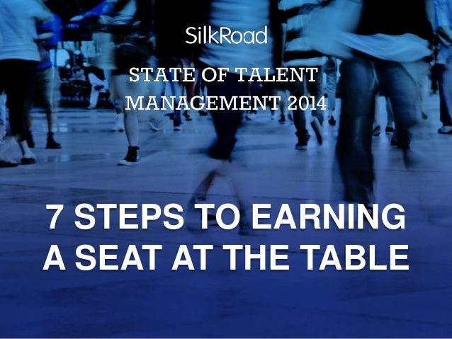 7 STEPS TO EARNING A SEAT AT THE TABLE