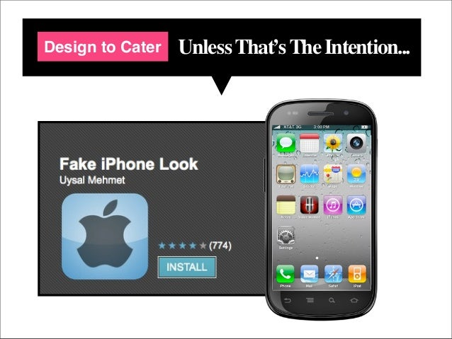 Design to Cater   Unless That's The Intention...