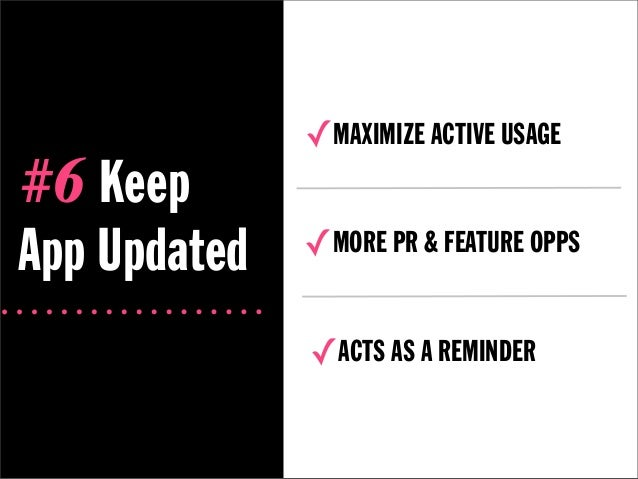✓MAXIMIZE ACTIVE USAGE#6 KeepApp Updated   ✓MORE PR & FEATURE OPPS              ✓ACTS AS A REMINDER