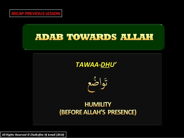 TAWAA-TAWAA-DHDHU'U' RECAP PREVIOUS LESSON All Rights Reserved © Zhulkeflee Hj Ismail (2014)All Rights Reserved © Zhulkefl...