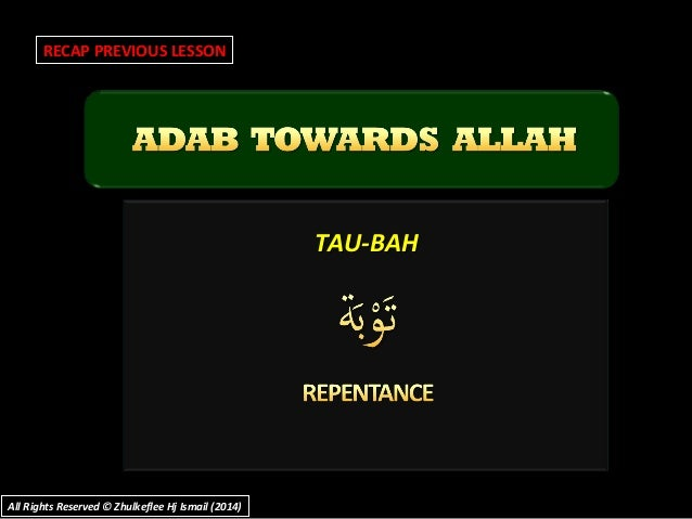 TAU-BAHTAU-BAH RECAP PREVIOUS LESSON All Rights Reserved © Zhulkeflee Hj Ismail (2014)All Rights Reserved © Zhulkeflee Hj ...