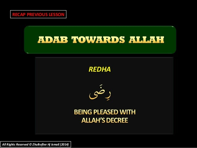 REDHAREDHA RECAP PREVIOUS LESSON All Rights Reserved © Zhulkeflee Hj Ismail (2014)All Rights Reserved © Zhulkeflee Hj Isma...