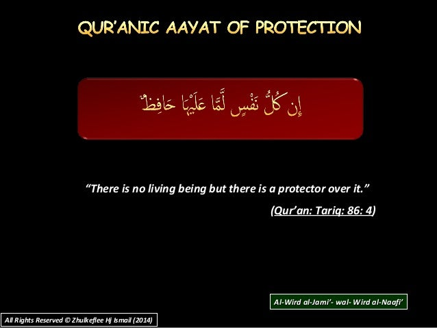 """""""There is no living being but there is a protector over it."""" (Qur'an: Tariq: 86: 4) All Rights Reserved © Zhulkeflee Hj Is..."""