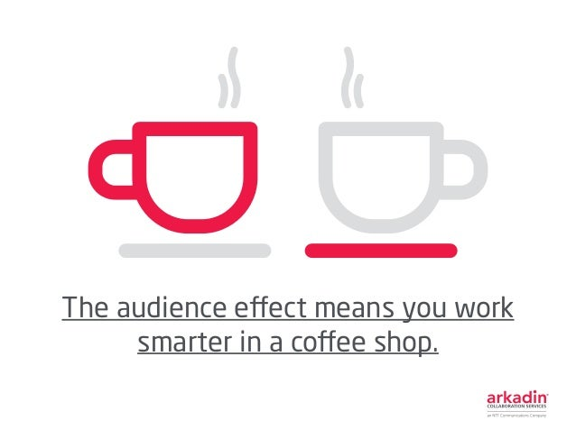 The audience effect means you work smarter in a coffee shop.