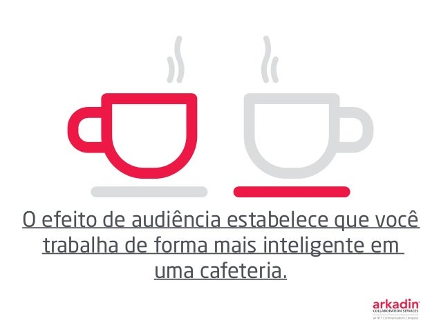 O efeito de audiência estabelece que você trabalha de forma mais inteligente em uma cafeteria.