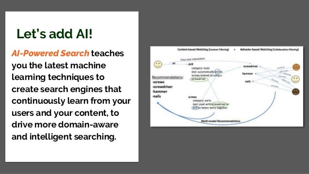 Let's add AI! AI-Powered Search teaches you the latest machine learning techniques to create search engines that continuou...