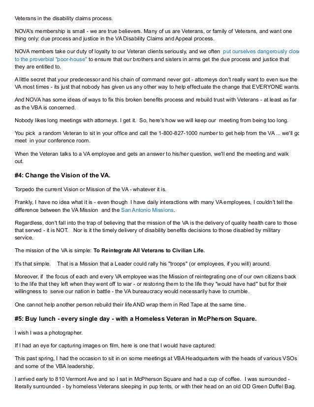An Open Letter to New VA Secretary Robert McDonald – Va Appeal Letter