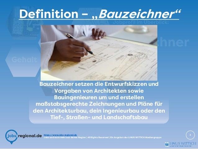 Bauzeichner - Jobprofil im Überblick Slide 2