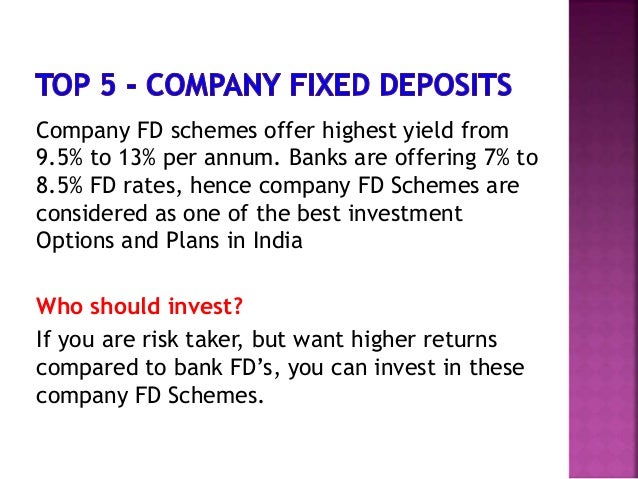 Best investment options in india for salaried