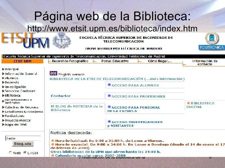 Calendario Etsit.Biblioteca Etsi Telecomunicacion Upm
