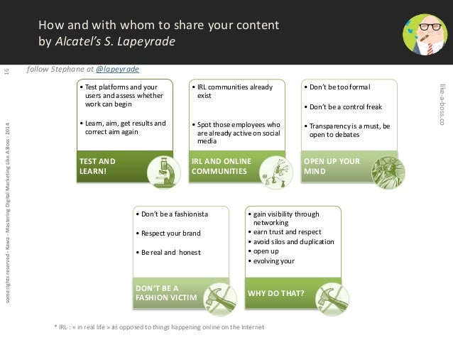 some rights reserved - Kawa - Mastering Digital Marketing Like A Boss - 2014 16  How and with whom to share your content  ...