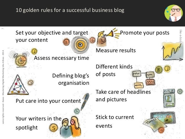 some rights reserved - Kawa - Mastering Digital Marketing Like A Boss - 2014 7  10 golden rules for a successful business ...
