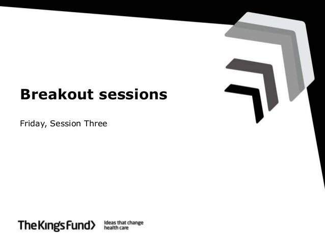 Breakout sessions Friday, Session Three