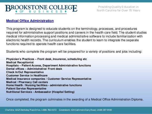 Brookstone College of Business - Medical Office Administration
