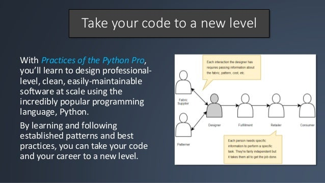 Practices of the Python Pro: coding best practices Slide 2