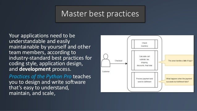 Practices of the Python Pro: coding best practices Slide 3