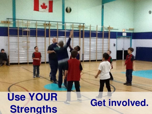 Use YOUR Strengths Get involved.