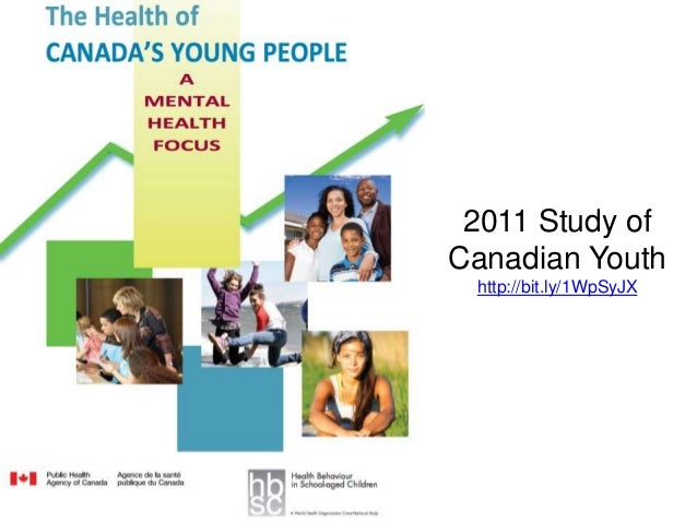 2011 Study of Canadian Youth http://bit.ly/1WpSyJX