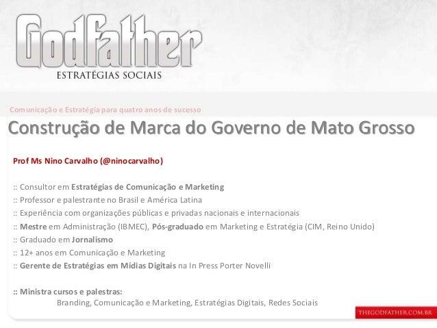 Prof Ms Nino Carvalho (@ninocarvalho) :: Consultor em Estratégias de Comunicação e Marketing :: Professor e palestrante no...