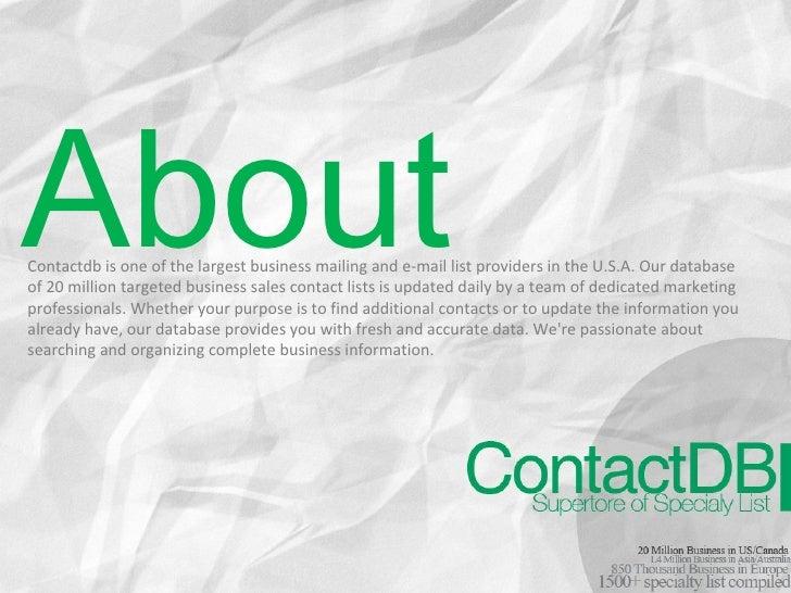 ContactDB Slide 2