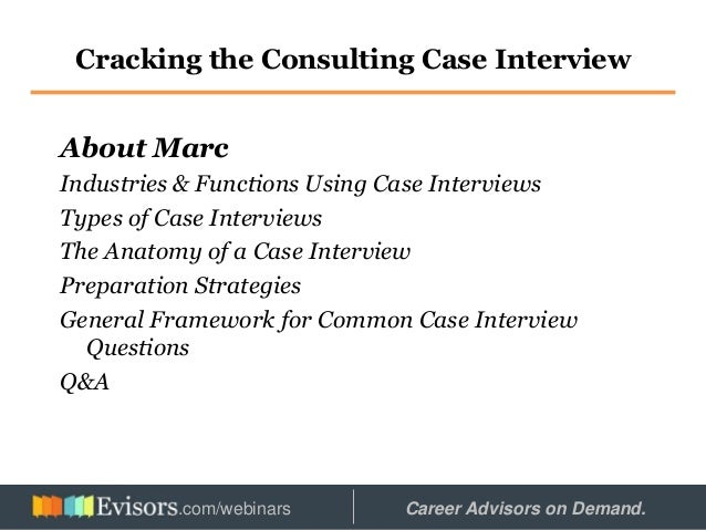 ... 2. Cracking The Consulting Case Interview About Marc Industries U0026  Functions Using Case Interviews ...
