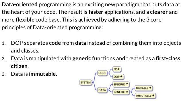 Data-Oriented Programming: making data a first-class citizen Slide 2