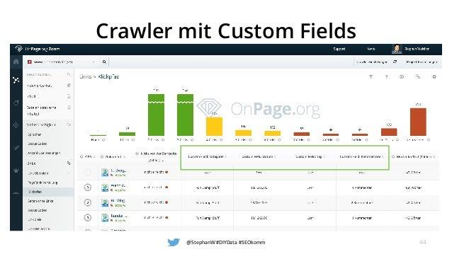 Crawler mit Custom Fields @StephanW#DIYData#SEOkomm 44