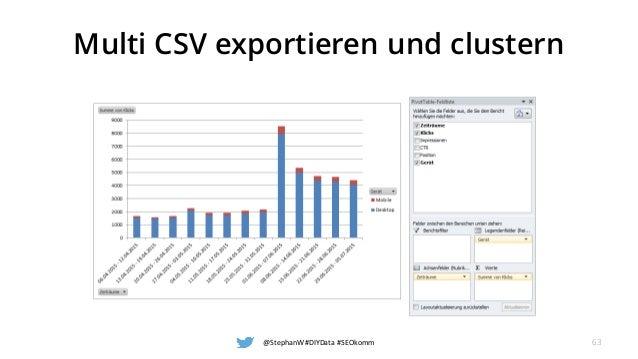 Multi CSV exportieren und clustern @StephanW #DIYData #SEOkomm 63