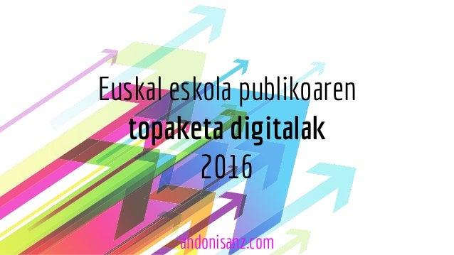 Euskal eskola publikoaren topaketa digitalak 2016 andonisanz.com