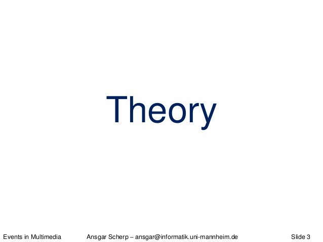 Events in Multimedia - Theory, Model, Application Slide 3